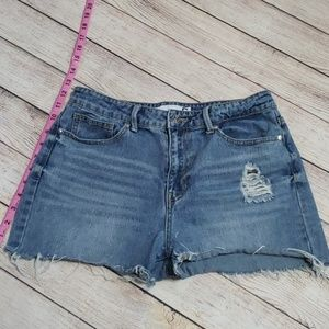 《G by guess》cut off high highwaisted Jean shorts